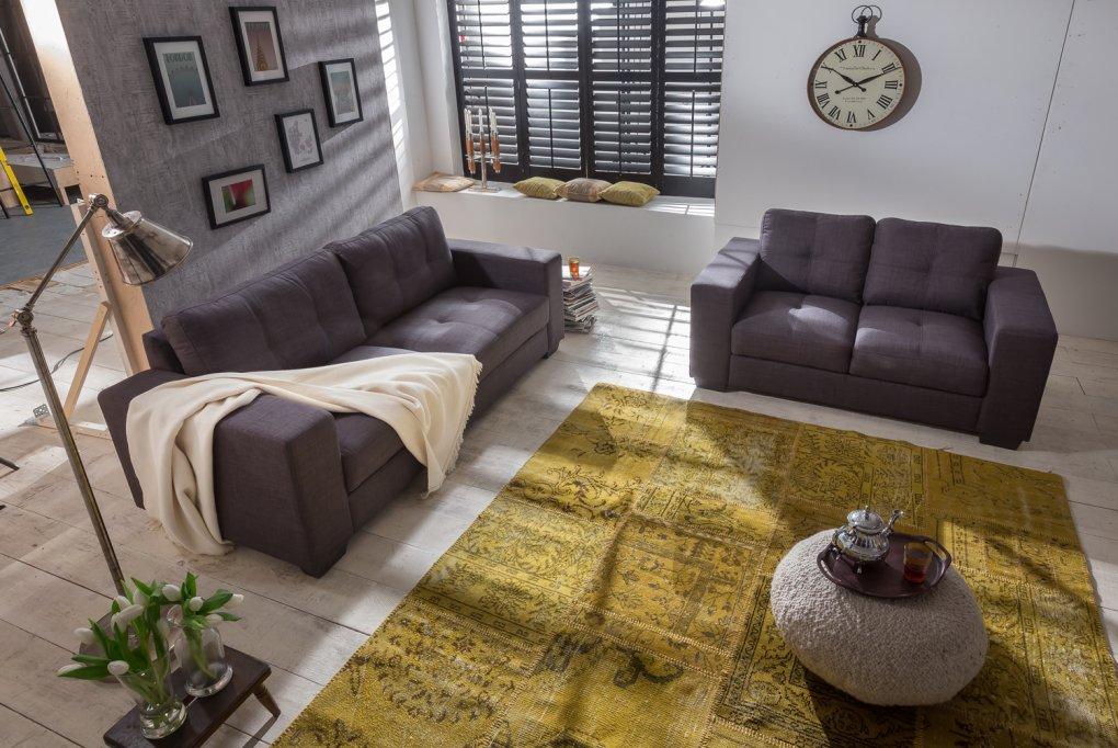 Sam Wohnlandschaft Polstergarnitur Sofa Couch Garnitur 2 Tlg Sofa